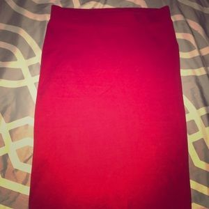 Fire Engine red pencil skirt
